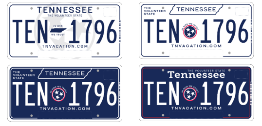 Rate the Plate: Lee adminstration puts four proposed tag designs to a vote